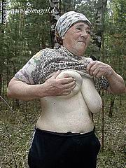 granny in forest