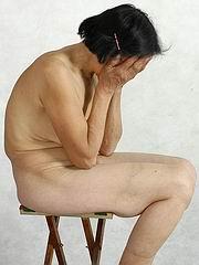 Asian granny posing