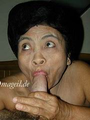 asian granny blowjob